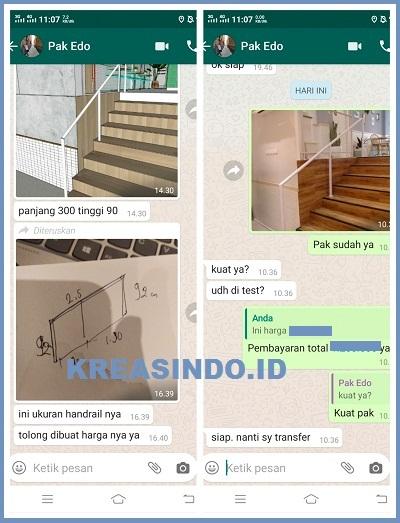 Repeat Order  Vindo Design Pegangan Tangga Besi di Blok M Jakarta