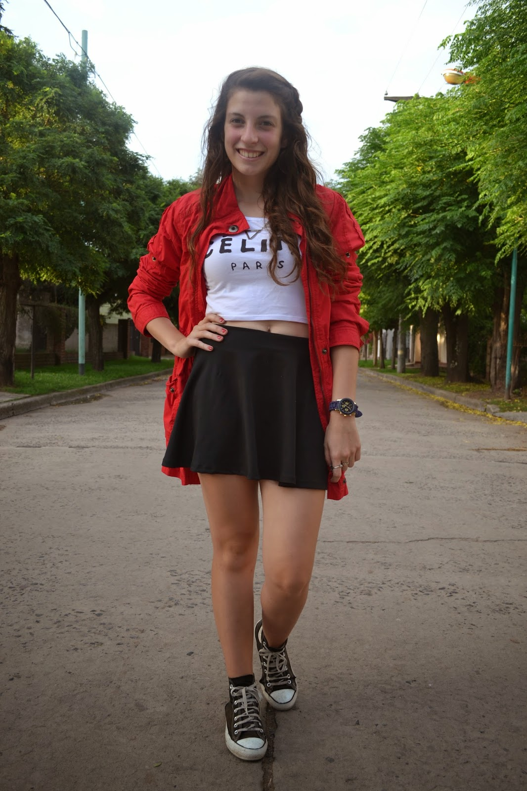 Alba Colegiala obsessed: belly button