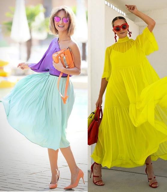 12 Looks com color block, Ellena Galant, Blair Eadie