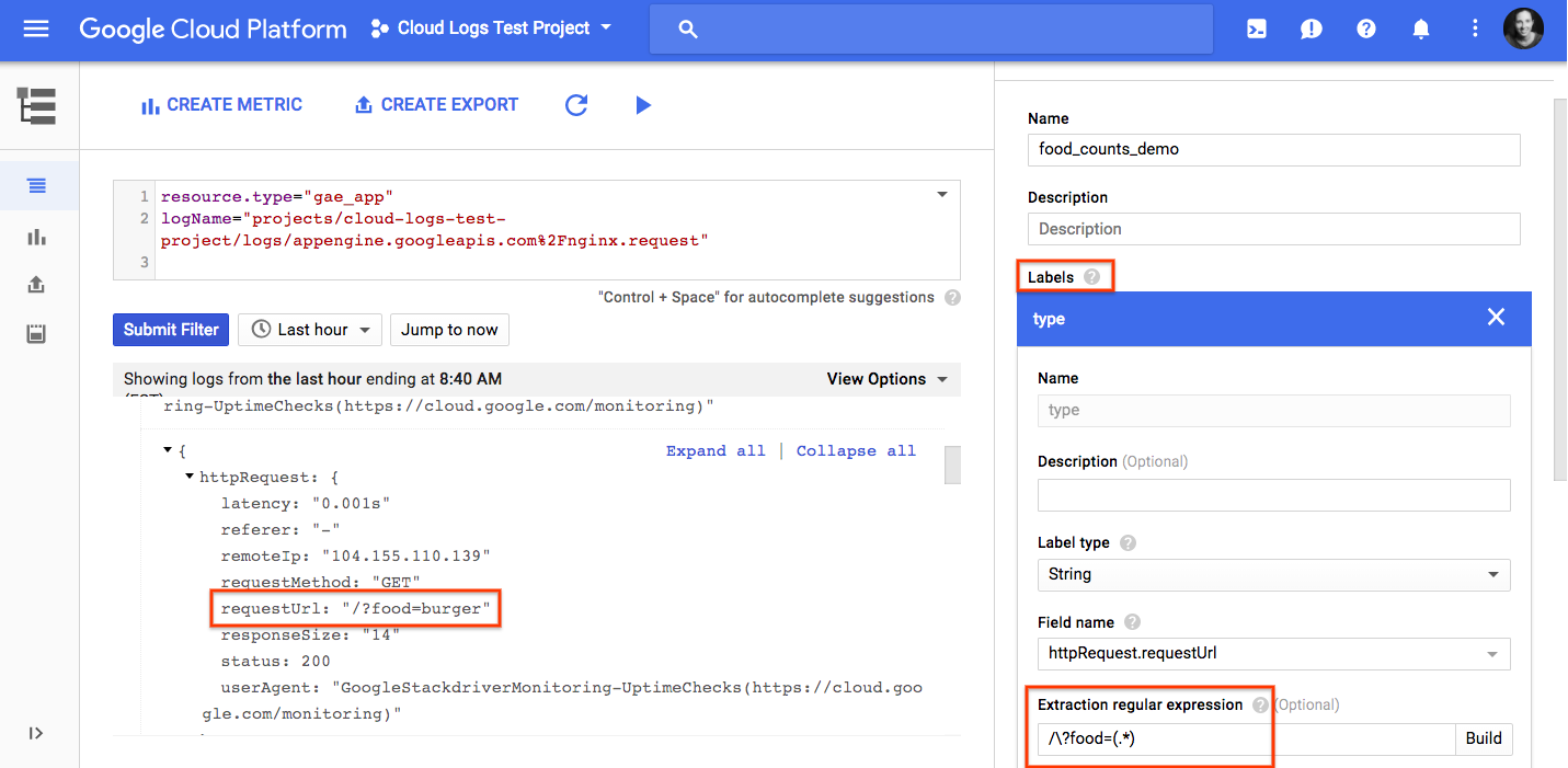 Google cloud platform blog extracting value from your logs with you can then view the logs based metric filter on the labels or create alerts in stackdriver monitoring in the example below we use metric explorer to baditri Choice Image