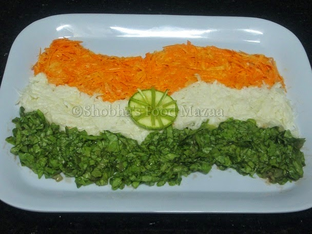Tricolour Indian Food