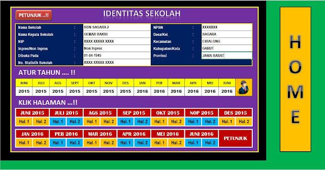 Download Format Laporan Bulanan Sekolah Terbaru Berbentuk Aplikasi Excel Lengkap