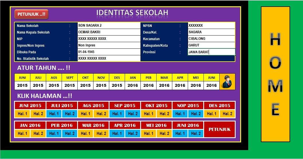 Format Laporan Bulanan Sekolah Terbaru Berbentuk Aplikasi Excel Lengkap File Berkas Sekolah