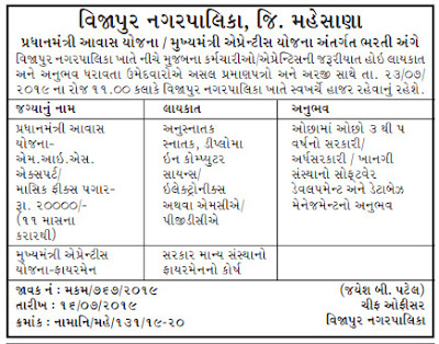Vijapur Nagarpalika Jobs