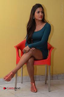 Telugu Actress Prasanthi Stills in Green Short Dress at Swachh Hyderabad Cricket Press Meet  0078.JPG