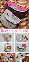 Simple Clutches Bag Tutorial & Pattern