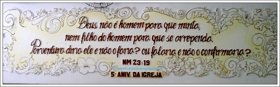 decoração de aniversário de igreja  /  Números 23:19