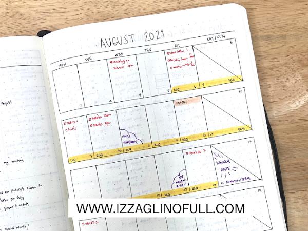 August 2021 Bullet Journal Set Up