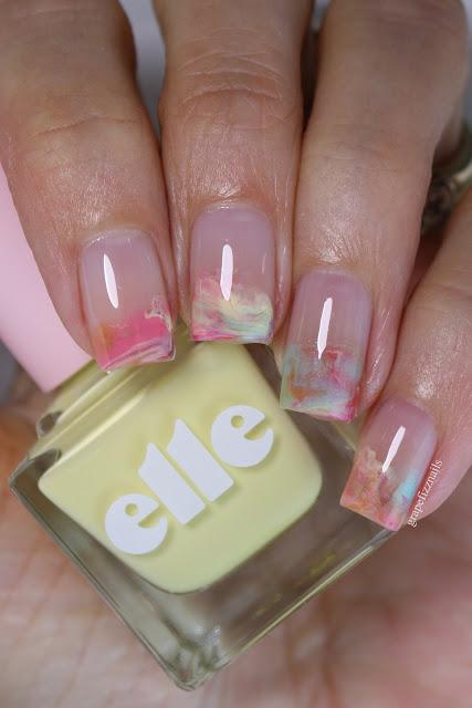 Elle Dip Marble Nail Art