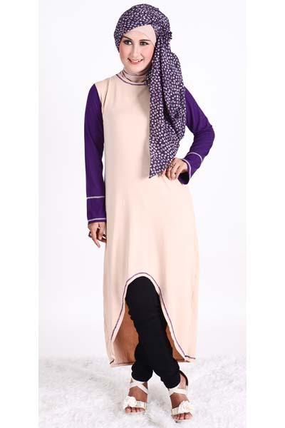Model Baju Muslim Dengan Bahan Kaos