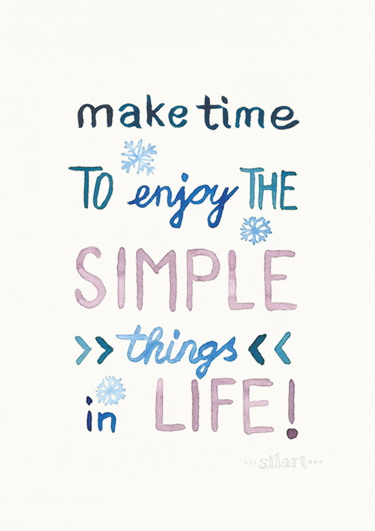 Simple Life, lettering card