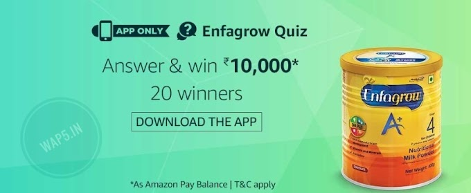 (All Answers) Amazon Enfagrow Quiz – Answers & win Rs.10000