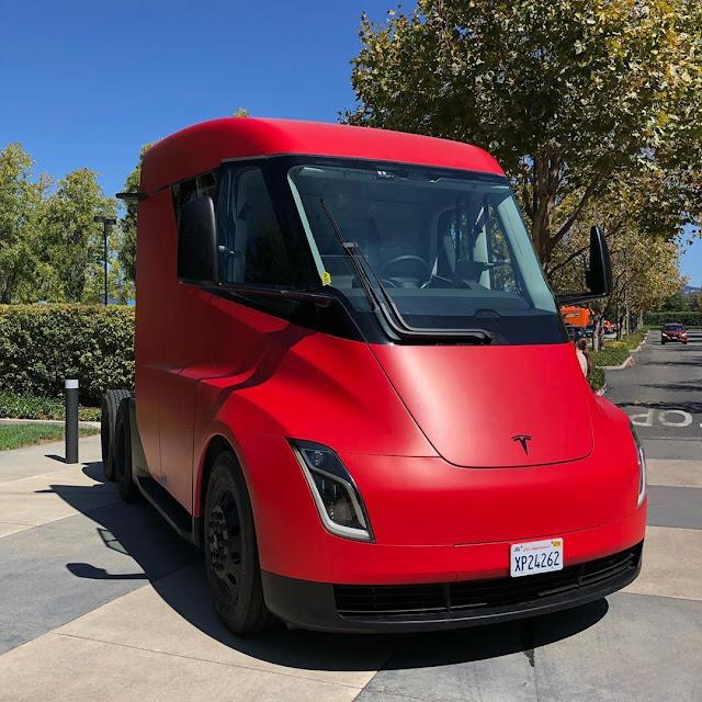 Tesla semi-truck prototype at Pixar