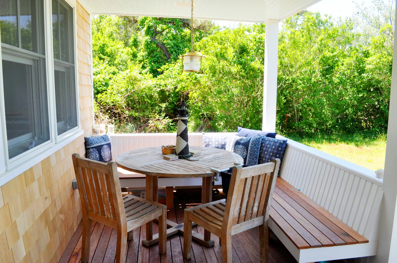 Front Porch Table And Chairs Child Size Bean Bag Nantucket Natural Island Outdoor Colors Inisde A Small