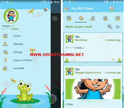 BBM Mod Frogy apk Terbaru