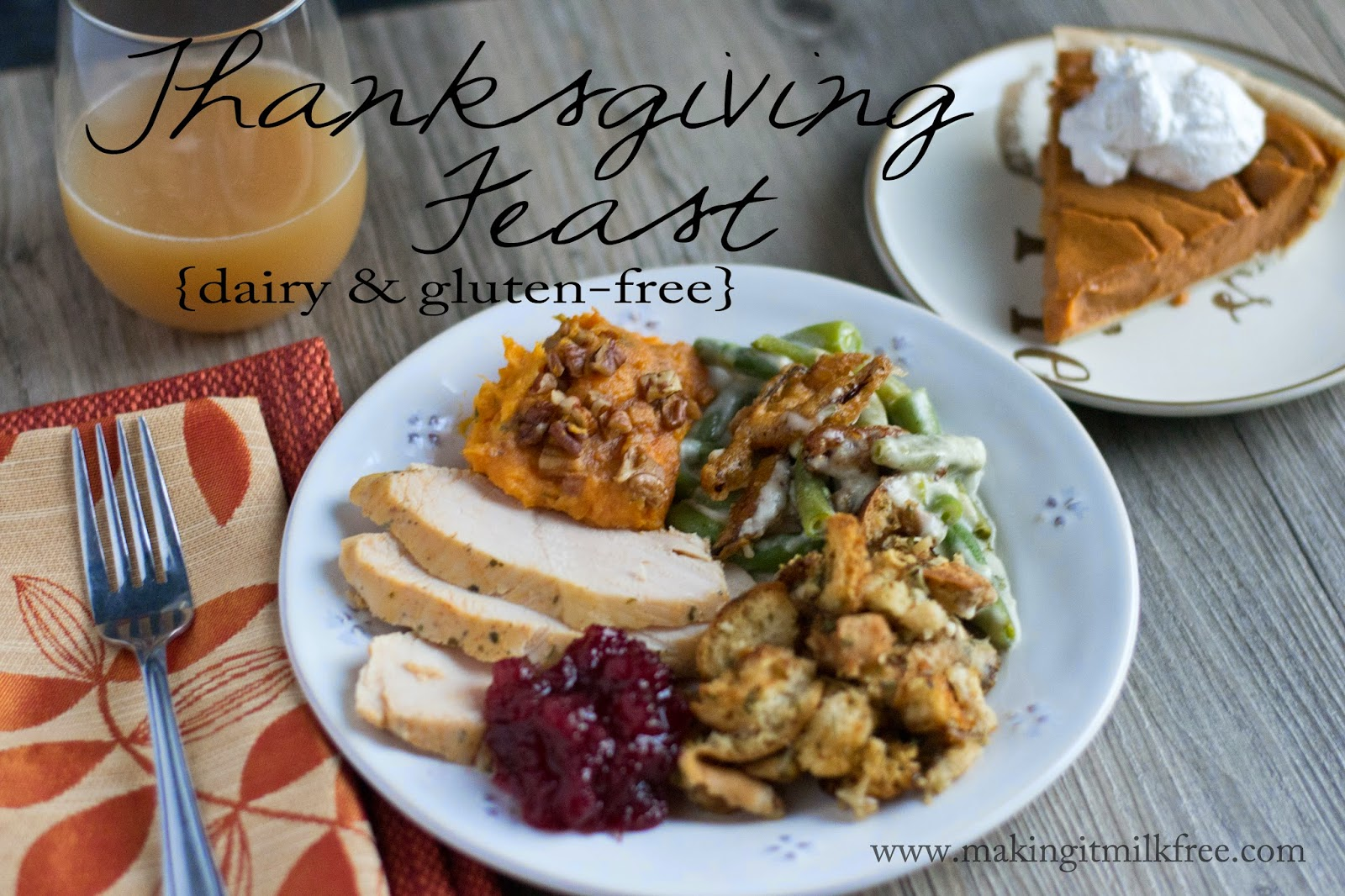 #dairyfree #glutenfree #thanksgiving #menu