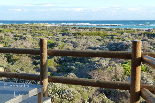 Looking at the sea from our chalet at Agulhas National Park