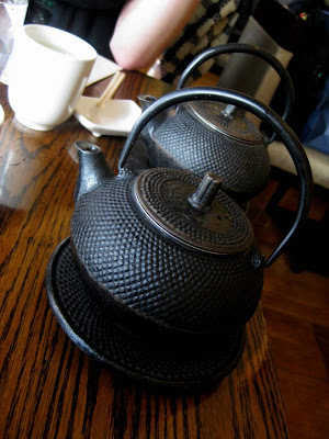 Pots of Tea at Natsumi Restaurant in New York, NY - Photo by Michelle Judd of Taste As You Go
