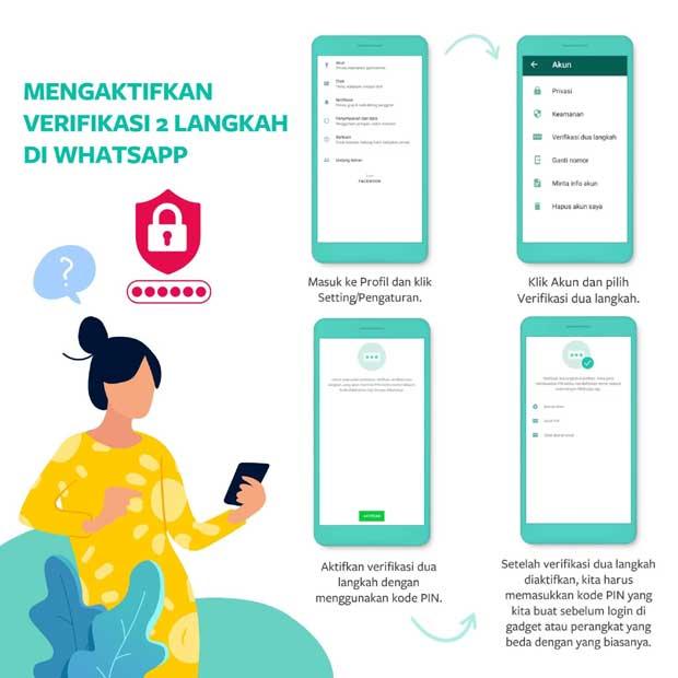 autentifikasi dua langkah di whatsapp