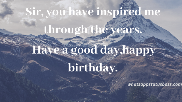 best 30+ happy birthday wishes to sir quotes images