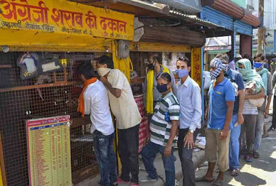liquor shop during lockdown in various state