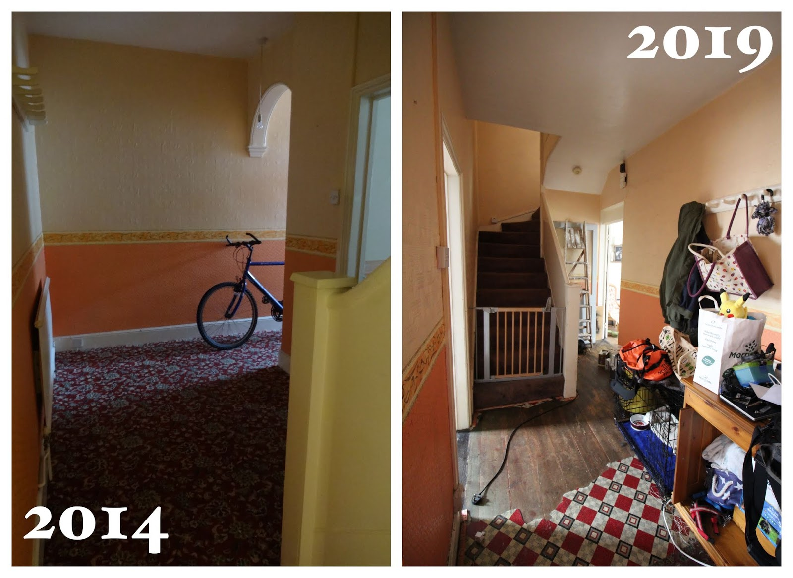hallway renovation before and after 5 years