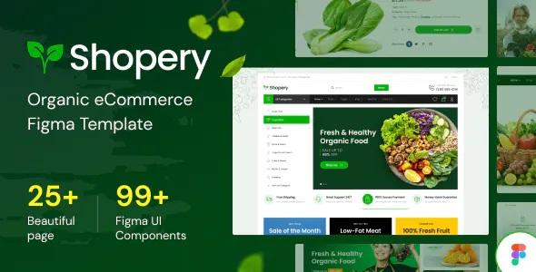 Best Organic eCommerce Figma Template
