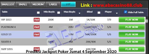 prediksi jackpot poker meja vip 4 september 2020