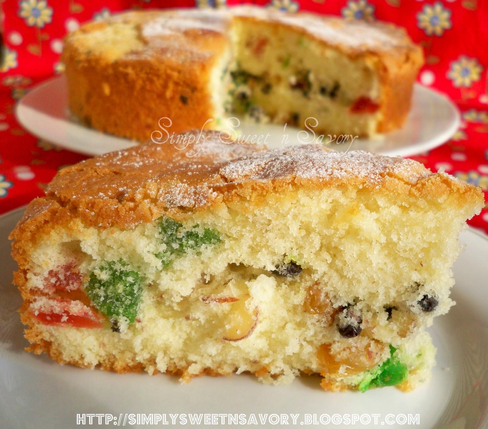 Simply Sweet 'n Savory: Light Fruit Cake