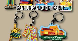Gantungan Kunci Karet