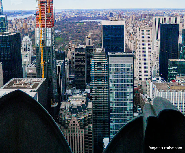 O Central Park visto do Top of the Rock, no Rockefeller Center, Nova York
