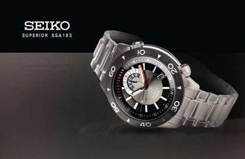 Relógio Seiko Automatic 4R37AH 1 - SSA183K1 com movimento automático de  corda mão com 24 jóias, modelo exclusivo com caixa de aço inoxidável  girando o anel ... 30f05d0eb4