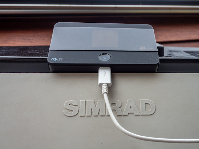Photo of our new mobile Wi-Fi router
