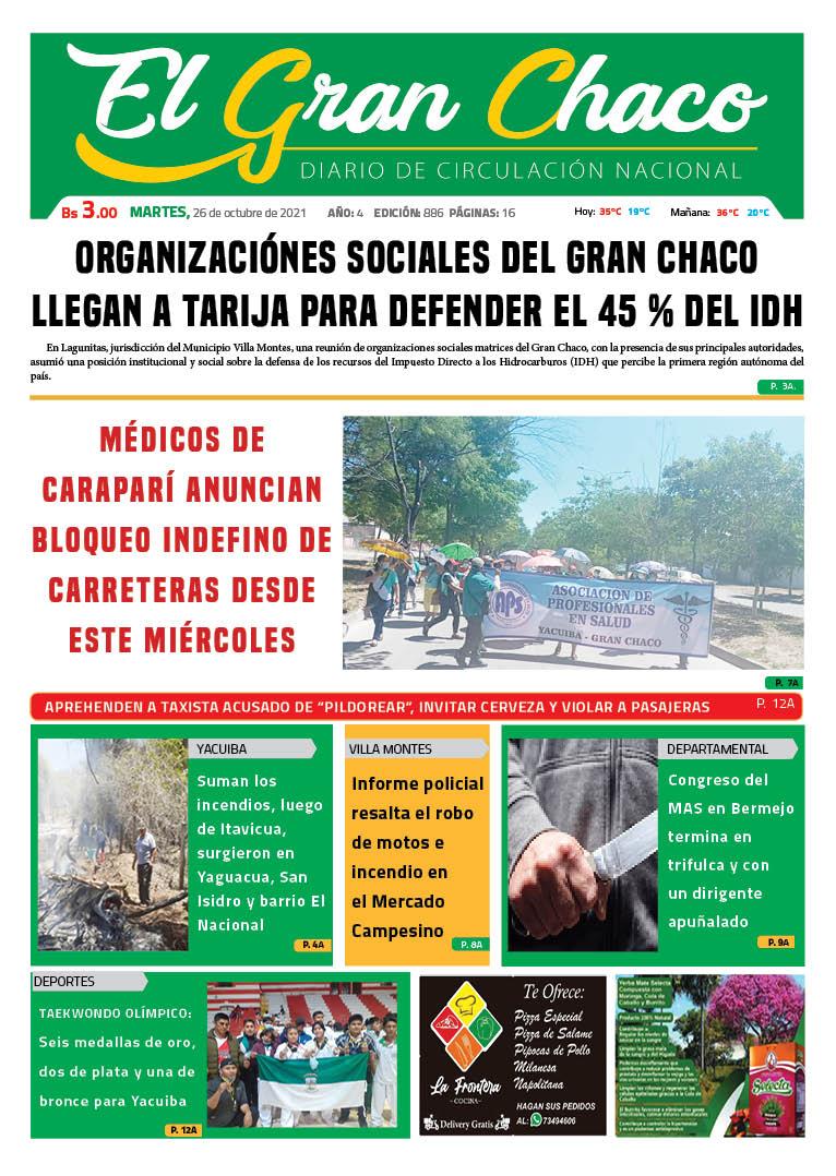 PORTADA DE DIARIO EL GRAN CHACO