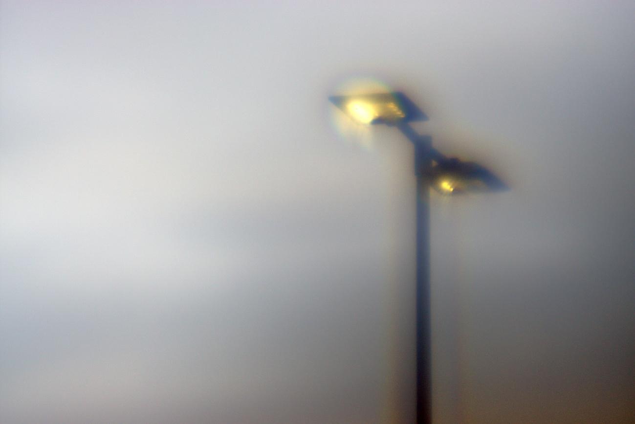 Brillenglasobjektiv #4 — Leerlaufbilder #10 — Lampe