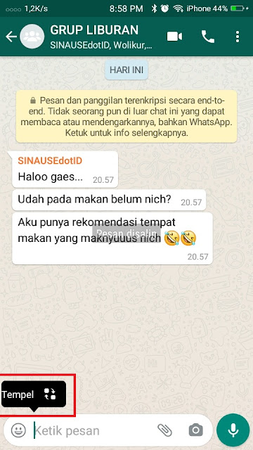 Cara copy Chat Whatsapp 2