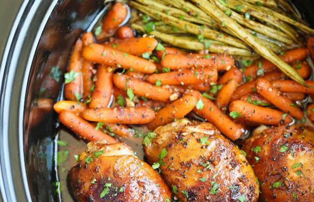 Honey Garlic Chicken and Veggies