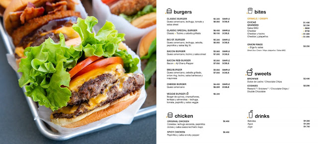 Streat Burger - Carta