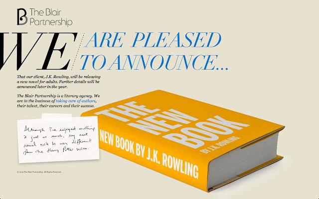 News: Novo livro de JK Rowling. 10