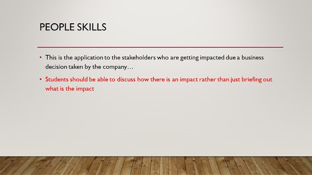 People Skills in CIMA OCS case study