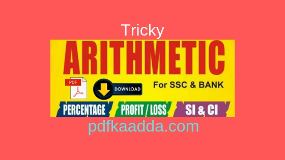 Tricky Arithmetic Maths Notes Pdf Download By Anant Publication