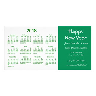 Happy New Year 2018 Calendar