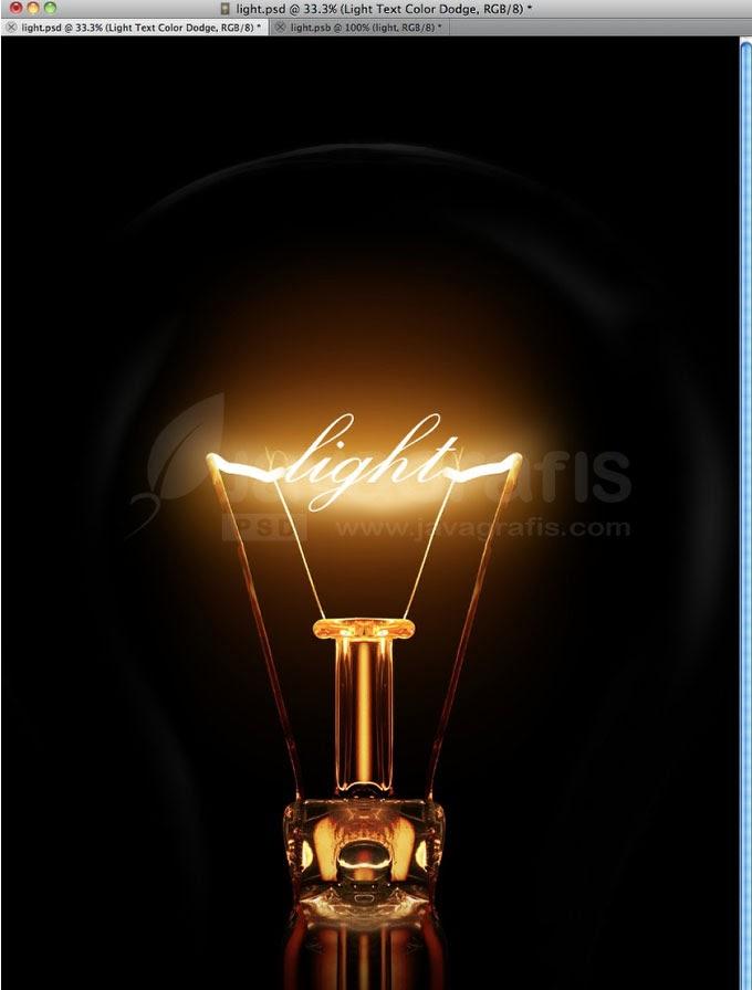 Membuat Efek Teks Cahaya Klasik Dengan Photoshop