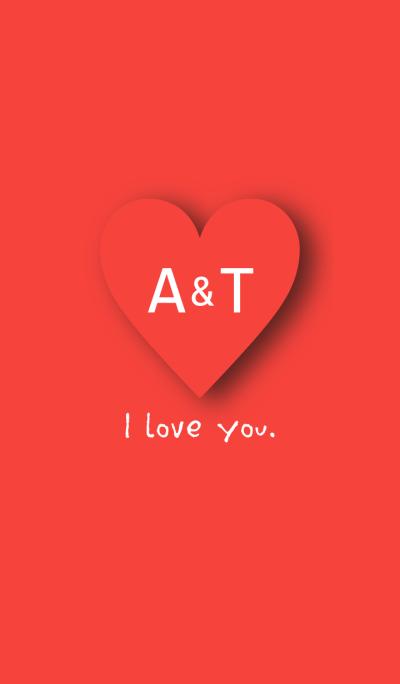 INITIAL -A&T- I Love you