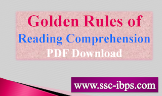 Golden Rules of Reading Comprehension PDF Download