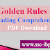 Golden Rules of Reading Comprehension PDF Download English Grammar Rules PDF