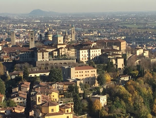 Bergamo's beautiful Città Alta - the medieval part of the Lombardy city where Locatelli was born