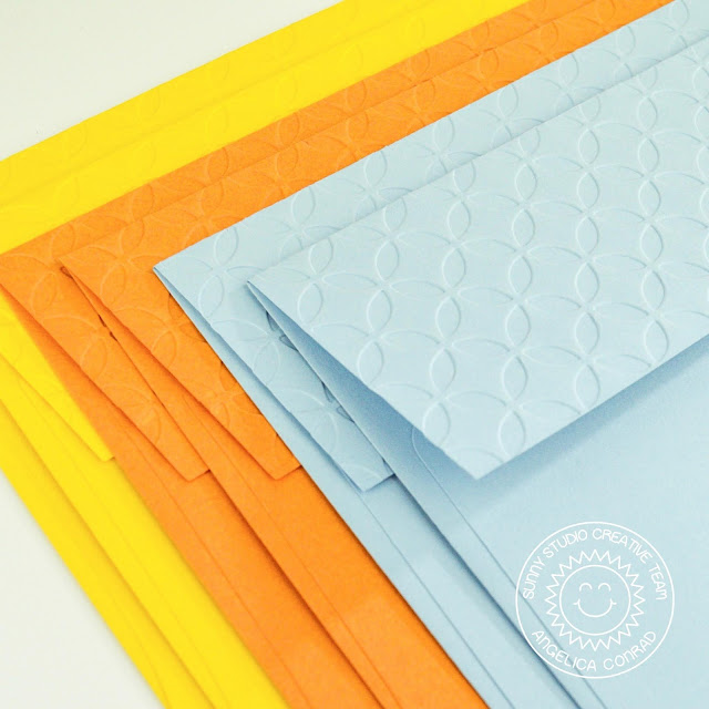 Sunny Studio Stamps: Hello Word Die Embossing Folders Everyday Card by Angelica Conrad
