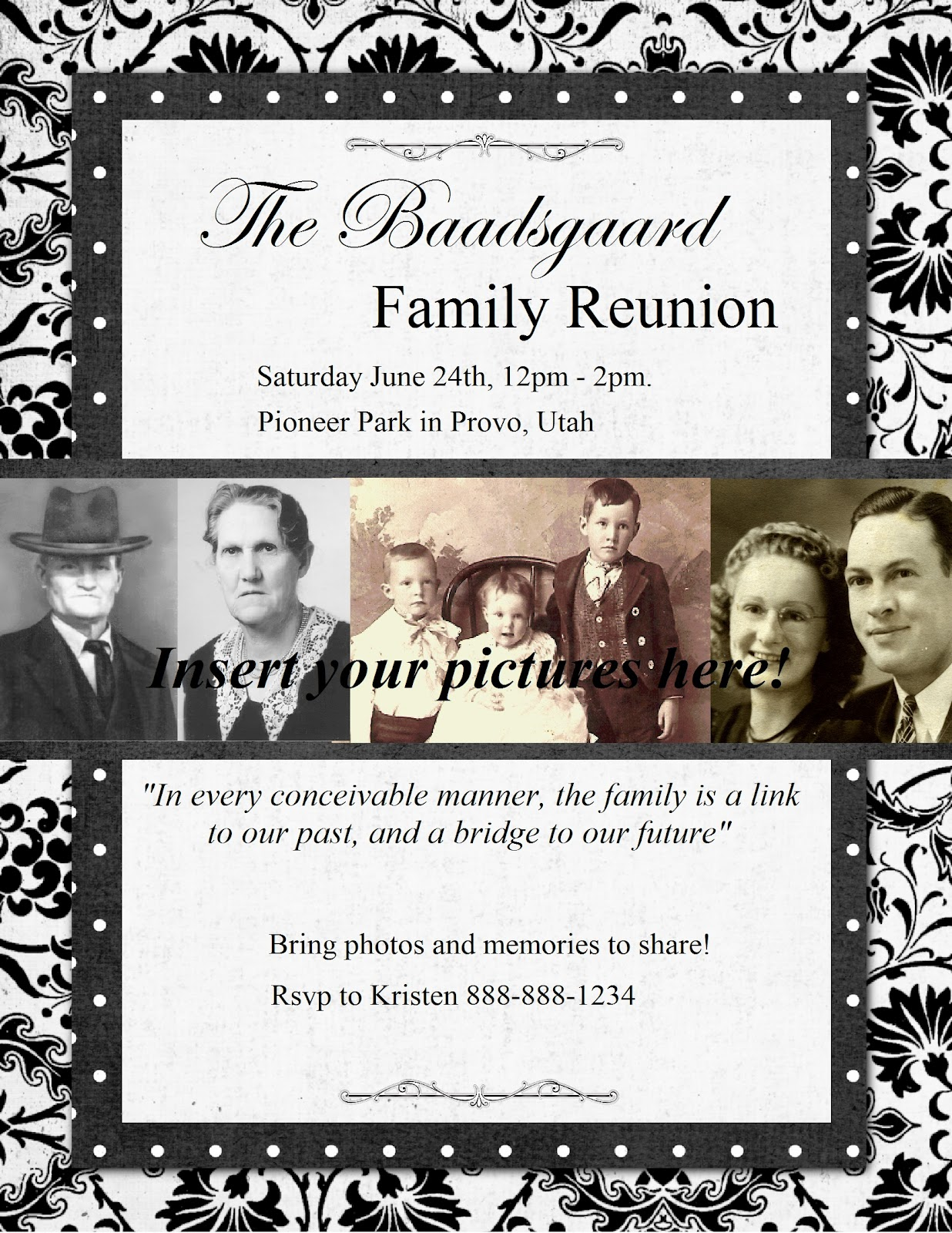 Family Reunion Flyer Template family reunion website templates – Invitations for Family Reunion