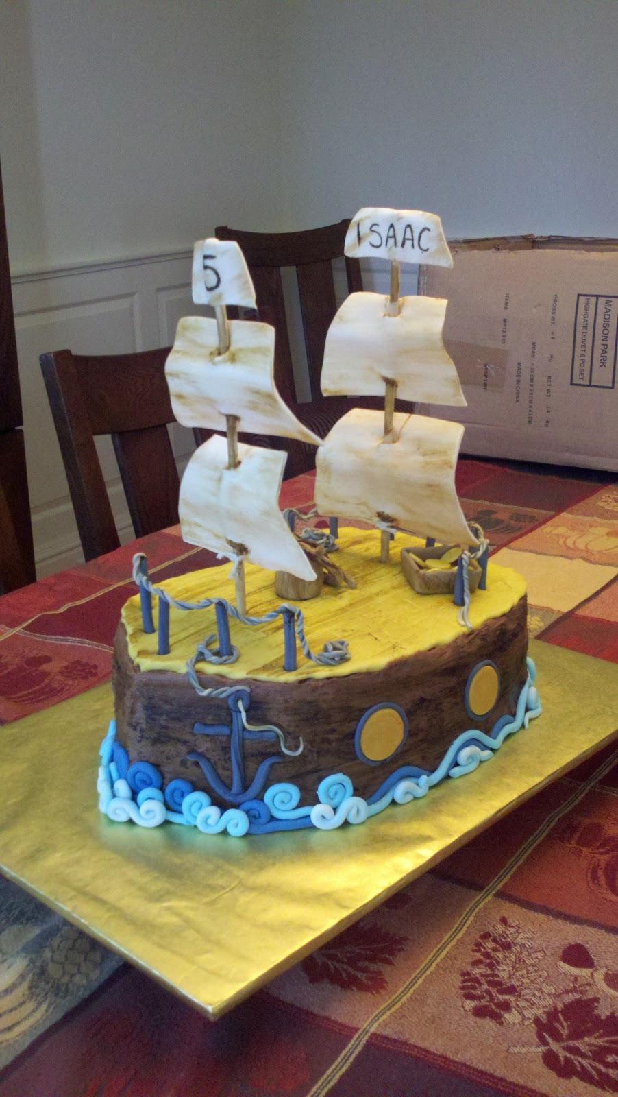 Deb S Custom Cakes Pirate Ship Cake
